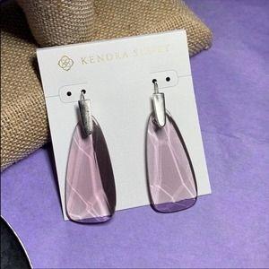 Kendra Scott Purple Glass Drop Earrings NEW